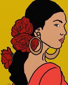 Pop Art Girl, Up Girl, Aesthetic Painting, Aesthetic Art, Arte Latina, Hispanic Art, Latino Art, Stoner Art, Doja Cat