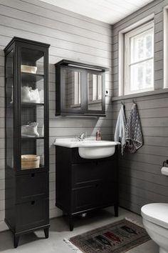 puupaneeli Toilet Plan, Double Vanity, Interior Design, Bathroom, Home Decor, Tila, Scrap, Cabin, Decoration
