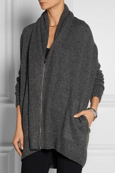 The Row | Mater oversized cashmere and silk-blend cardigan in grey | NET-A-PORTER.COM