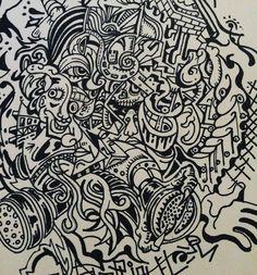 #monochrome #illustration #swag#graffiti #fineart #イラスト #アーティスト #gasmask #outside #モノクロ #絵 #skull #monster #モンスター #art#420 #progress #instamood #instagram #instadaily  #instagood  good morning by hideo_goto