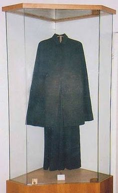 St. Gemma's clothing...she battled nightly beatings by the devil and suffered terrible physical / spiritual afflictions. .