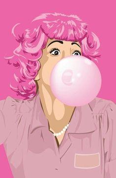 blowing bubble fetish gum