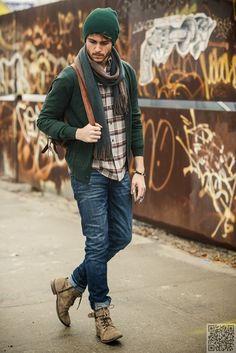 34. #hiver vert - Style #urbain s'accroche 39 sexy et chic masculin... → #Fashion