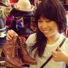 Wendy loves her new ankle boots!