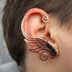 Par de cobre oído puños alas de Hermes por StrangeThingJewelry