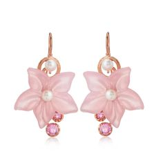 Tagliamonte Botticelli Collection Hook Earrings S/S & RGP