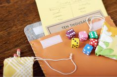 "DIY Gift Idea: Travel ""10 Thousand"" Dice Game"