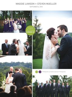 Click for more from this elegant purple Tri-Cities wedding, photographed by Kadees Approach Photography and featuring cake by @susiesweddcakes with Susie's Specialty Wedding Cakes! | The Pink Bride www.thepinkbride.com