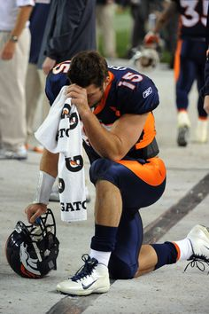 Tim Tebow is living what he believes.  He is an awesome athlete and a positive Christian role model.