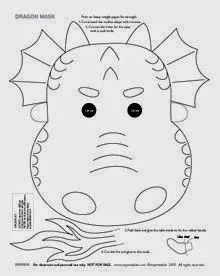 Dragon mask for coloring. Also includes 5 different colored printable dragon mas. Dragon mask for coloring. Also includes 5 different colored printable dragon masks (blue, red, black, green, and pin Dragon Vert, Mr Printables, Free Printable, Chinese New Year Crafts For Kids, Dragons Love Tacos, Dragon Mask, Dragon Coloring Page, Dragon Birthday, New Year's Crafts