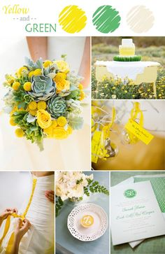 yellow and green wedding color ideas for spring and summer