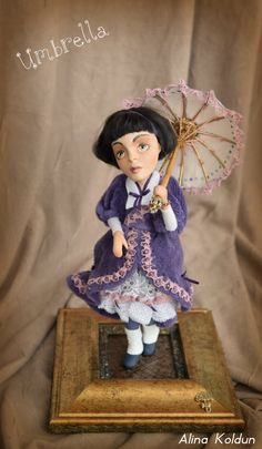 "OOAK Art Doll / Colonial Steampunk Collection / ""Umbrella!"""