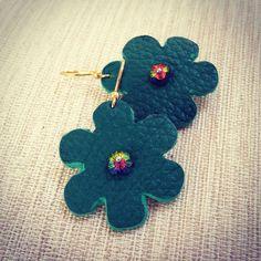 Handmade Beaded Jewelry, Swarovski, Stud Earrings, Create, Leather, Studs, Stud Earring