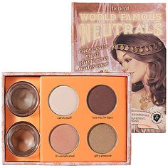 Bought this for my wedding eye makeup. ♥ Benefit Cosmetics World Famous Neutrals - Most Glamorous Nudes Ever: Shop Eye Sets & Palettes | Seph