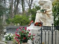 #Chopin's grave monument >The Famous Graves of Pere LaChaise Cemetery