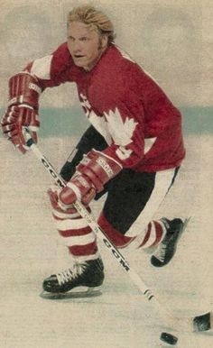 Team Canada's Bobby Hull was still in top form in the 1976 Canada Cup.