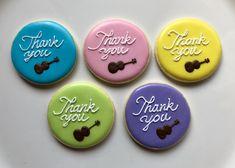 Ukulele Thank You Cookies