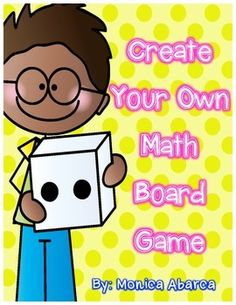 This PDF includes all directions necessary for students to complete their very own math board game. Students choose a math topic that has been studied during the year (this is left blank for you to fill in depending on your grade level). Then students are asked to create a theme, write instructions to solve the types of problems on the board game, game instructions, create a game board, and design game pieces for play.