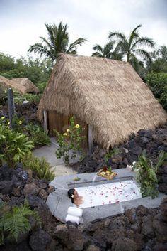 outdoor hawaiian spas   Outdoor Huts at Mauna Lani Spa, Page 5