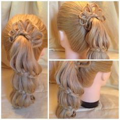 Staircase Braided Ponytail Created by Christinehttps://www.facebook.com/hairsbychristine1