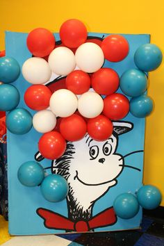 Cat In The Hat Party Decoration - Balloon Popping Game - NOW available for sale. If interested, please contact me at bollingwith5@gmail.com