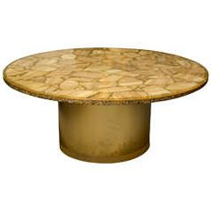 Etched Brass Table by Edmond Segura at 1stdibs