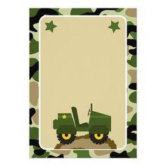 Invitaciones militares de la fiesta de cumpleaños Army Themed Birthday, Camouflage Birthday Party, Army's Birthday, Birthday Cards, Military Party, Army Party, Nerf Party, Man Party, Photo Album Scrapbooking