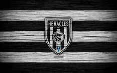 Download wallpapers Heracles FC, 4k, Eredivisie, soccer, Holland, football club, Heracles, wooden texture, FC Heracles