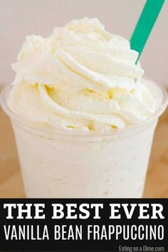 If you love Starbucks you should try this copy cat starbucks vanilla bean frappuccino recipe. It's quick and easy to make this Vanilla Bean Frappe recipe. Frappachino Recipe, Vanilla Bean Frappuccino Recipe, Starbucks Vanilla, Frappe Recipe, Starbucks Drinks, Coffee Drinks, Starbucks Frappuccino Recipe At Home, Starbucks Coffee, Vanilla