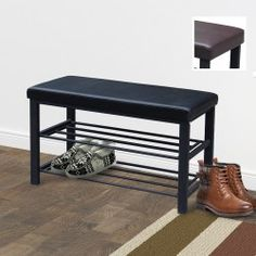 Bank mit gepolsterter Sitzfläche Entryway Bench, Shoe Rack, Design, Furniture, Home Decor, Ad Home, Homes, Wish List, Entry Bench