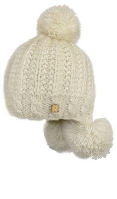 Zimní čepice - good idea for the pompoms in back.....nice and warm