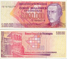 nicarawgua currency | 1990 - Nicaraguan Currency Bank Notes, Paper Money, World Currency ...