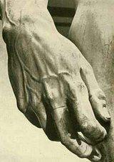 Davi's hand by Michelangelo