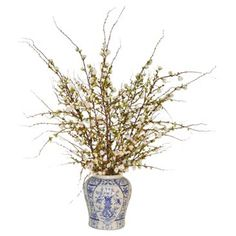 Check out this item at One Kings Lane! Cherry Blossom Arrangement in Vase, Faux