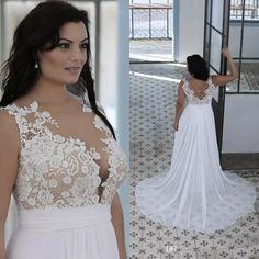 Plus Size Beach Wedding Dresses A Line Sheer Bateau Neck Sweetheart Lace Top Bridal Gowns White Nude Cheap High Quality Brides Gowns Wedding Dresses On Line Wedding Dresses Shops From Weddingfactory, $139.7  Dhgate.Com