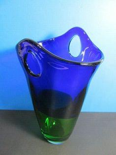 The red color is a reddish-amber shade. Cylinder Vase, Bud Vases, Cobalt Blue, Blue Green, Rose Vase, Feather Design, Vintage Vases, White China, Vintage Marketplace