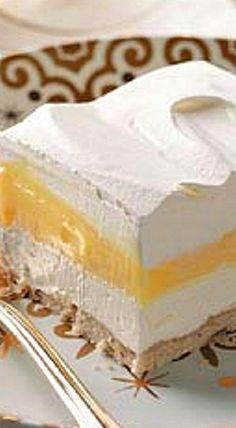 Fluffy Lemon Pudding Dessert