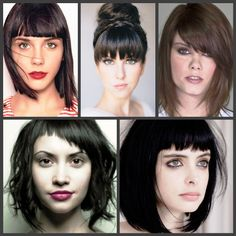 Bangs To Flatter Your Features. There are so many shapes, lengths, and textures; how do you choose the right one?.. Square, Sweetheart, Micro or Piecey.