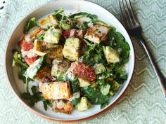 crispy tofu, avocado, and grapefruit salad | flavored with za'atar and topped with a miso and tahini dressing The Food Lab
