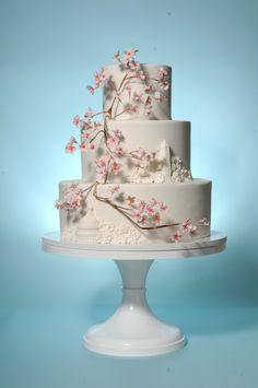 Washington DC Wedding Cake with Capitol, monument and gumpaste cherry blossom branch. Wedding Cakes With Cupcakes, Wedding Cake Decorations, Wedding Cake Designs, Cupcake Cakes, Wedding Ideas, Wedding Inspiration, Cherry Blossom Theme, Cherry Blossom Wedding, Cherry Blossoms