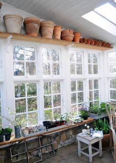 Orangeri af gamle vinduer