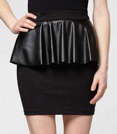 #Fredflare                #Skirt                    #Pleather #Peplum #Pencil #Skirt                    Pleather Peplum Pencil Skirt                                                  http://www.seapai.com/product.aspx?PID=594023