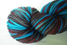 Hand Dyed Yarn  Kettle Dyed  Rocket Pop in a by IriaYarnCompany, $18.00