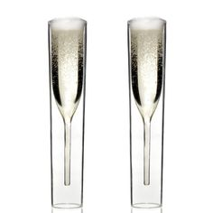 Charles & Marie Champagne Flutes  by Charles & Marie