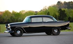 55 Chevy all in black
