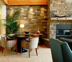 Four Lakes Apartments.  Victor Dining Arm Chairs by Jeffrey Braun Furniture.