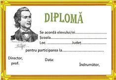 Lumea lui Scolarel...: Diplome Mihai Eminescu Picture Finder, Preschool, Classroom, Arizona, Alphabet, Desktop, Pictures, Printables, Dates