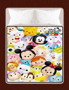 "New Disney Tsum Tsum Custom Large Throw Blanket High Quality 58"" x 80"" Inch #Unbranded #Modern"