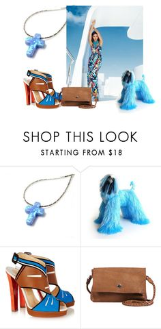 """""""Blue"""" by treasury ❤ liked on Polyvore featuring Bebe, Christian Louboutin and Day & Mood"""