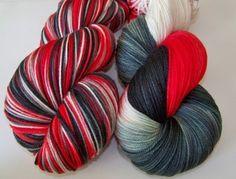 "See Jane Knit Yarns - Hand Painted Ultra Merino Superwash Sock Yarn -- ""Don Falls Out The Window (Mad Men)"""
